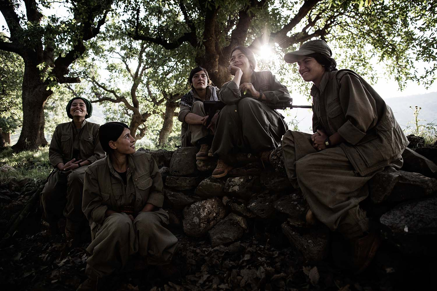 PKK fighters protecting the Qandil mountains and living their life there. Nuhal, Sozan, Tajin, Beitar, Arin.