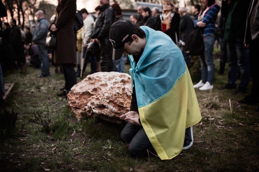 pro ukraine protest in donetsk