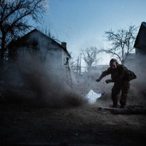 The conflict continues in East Ukraine. Reportage out today in SK