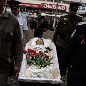 Funeral in Sloviansk